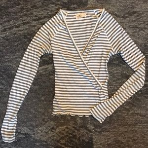 Small Hollister long sleeve stripe shirt